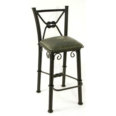 Chaucer Bar Stool Upholstery: Sage Green