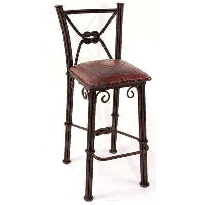 "Chaucer Contemporary 30"" Bar Stool Upholstery: Antique Red"