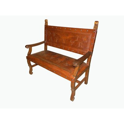 Tylersburg Heritage Leather Bench Color: Western Rustic