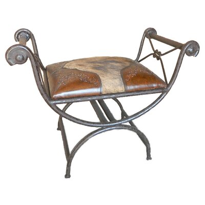 Navarette Single Vanity Iron Bench Color: Rustic