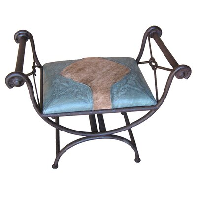 Navarette Single Vanity Iron Bench Color: Turquoise