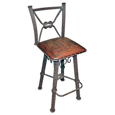 "Chaucer Traditional 30"" Metal Bar Stool (Set of 2)"