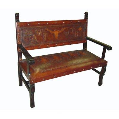 Tylersburg Heritage Wood Bench Color: Rustic