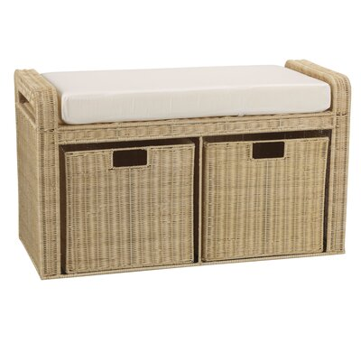 Rattan Natural Storage Bench