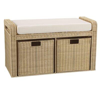 Rattan Natural Storage Bench