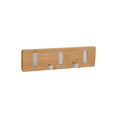 Bamboo 5-Hook Key Holder Wall Coat Rack
