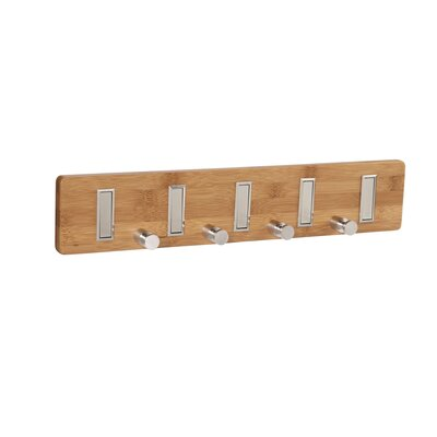 Bamboo 9-Hook Key Holder Wall Coat Rack