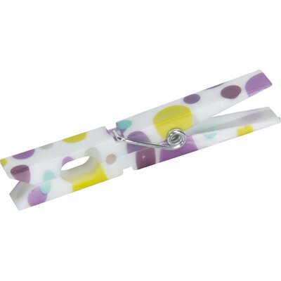 Painted Dots Plastic Clothespin