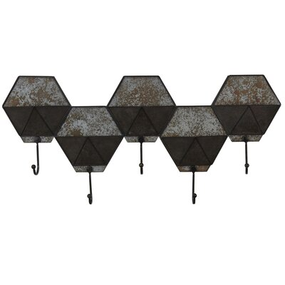 Hexagon Pocket Wall Hook Coat Rack
