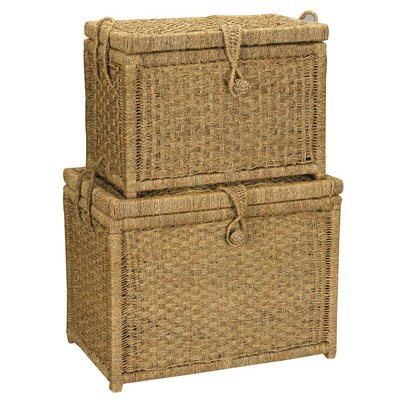 Household Essentials Seagrass Trunk (Set of 2)