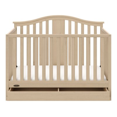 Solano 4-in-1 Convertible Crib with Drawer Color: Driftwood