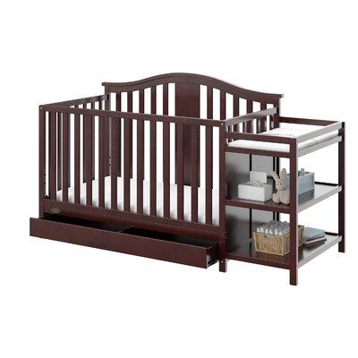 Solano 4-in-1 Convertible Crib and Changer Color: Espresso