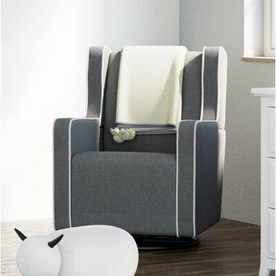 Remi Swivel Glider Upholstery: Horizon Gray/White