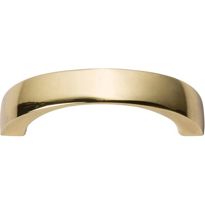 """Tableau Curved 1.43"""" Center Arch Pull Finish: French Gold, Size: 0.37"""" H x 2.81"""" W x 0.75"""" D"""