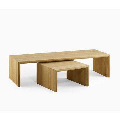 Kluskens Bologna Oak Coffee Table with Nested Stools