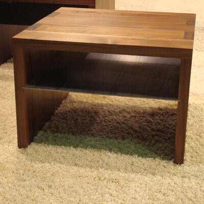 Kluskens Coffee Table with Magazine Rack