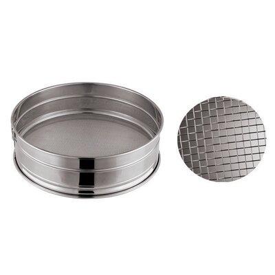 "Coarse Mesh Stainless Steel Flour Sieve Size: 3.13"" H x 11.88"" W x 11.88"" D"