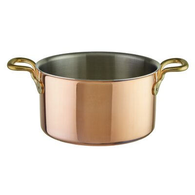 """Tri-Ply Copper Pot Sauce Pan Size: 11.38"""" W"""