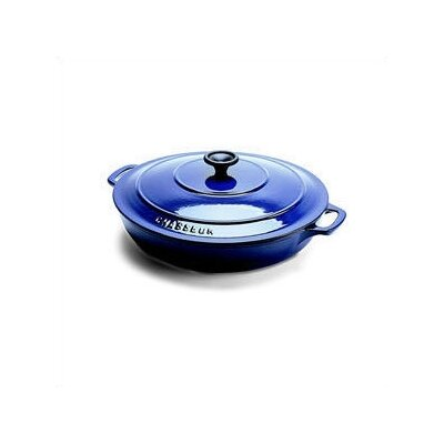 Paderno World Cuisine Stainless Steel 3 Qt. Cast Iron Round Dutch Oven