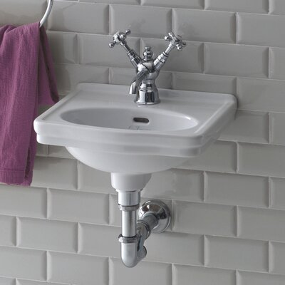 """Leavitt Vitreous China 15"""" Wall Mount Bathroom Sink with Overflow"""