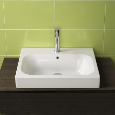 Universal Ceramic Rectangular Drop-In Bathroom Sink with Overflow