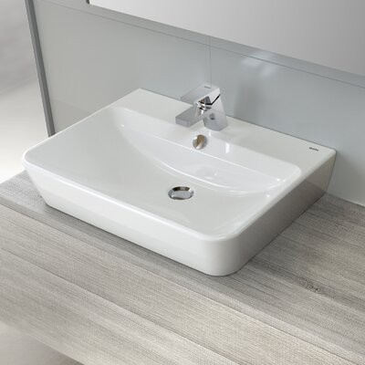 """Emma Vitreous China 22"""" Wall Mount Bathroom Sink with Overflow"""