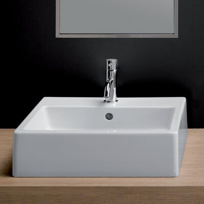"""Area Boutique Ceramic 19"""" Wall Mount Bathroom Sink with Overflow"""