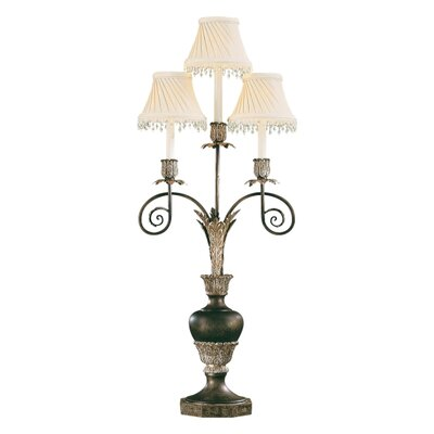 """Minka Ambience 3 Light 37.5"""" H Table Lamp with Bell Shade"""