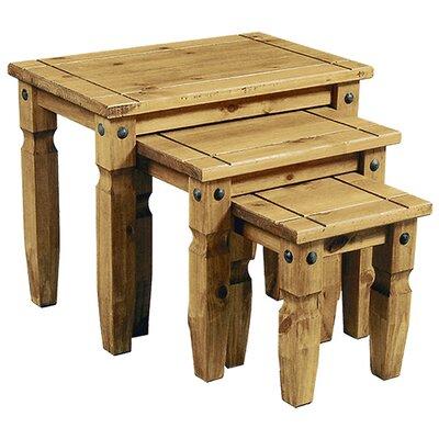 Heartlands Furniture Rustic Corona 3 Piece Nest of Tables