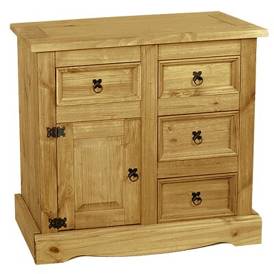 Heartlands Furniture Rustic Corona 1 Door 4 Drawer Combi Chest