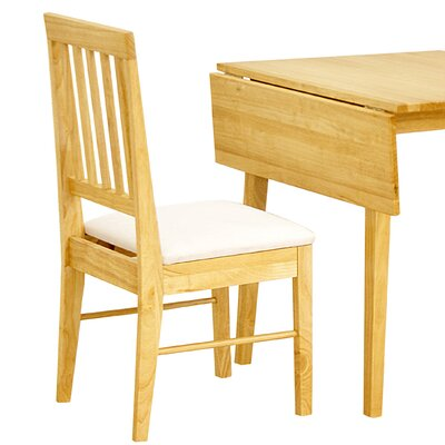 Heartlands Furniture Swiss Solid Rubberwood Upholstered Dining Chair