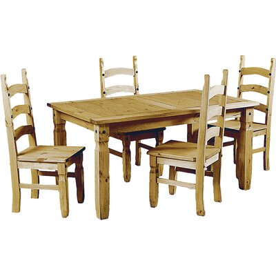 Heartlands Furniture Rustic Corona Dining Table and 4 Chairs