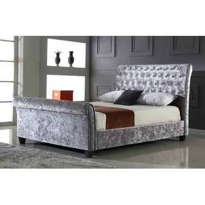 Heartlands Furniture Serenity Upholstered Sleigh Bed