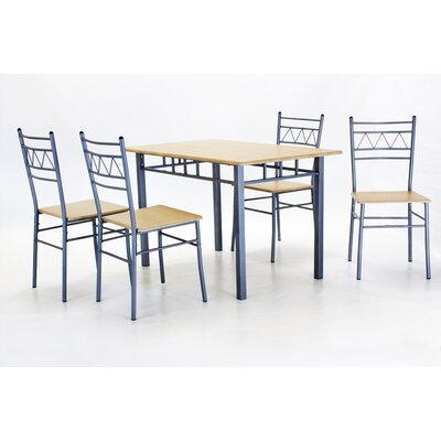 Heartlands Furniture Oslo Dining Table and 4 Chairs