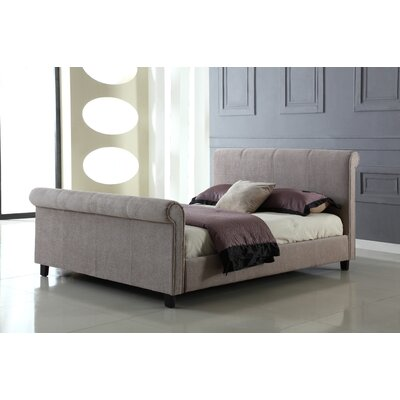 Heartlands Furniture Jalisa Upholstered Sleigh Bed