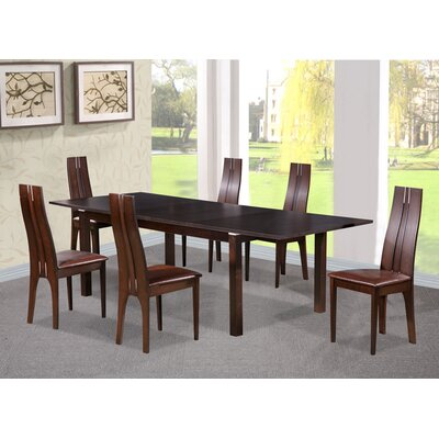 Heartlands Furniture Croft Extendable Dining Table and 6 Chairs