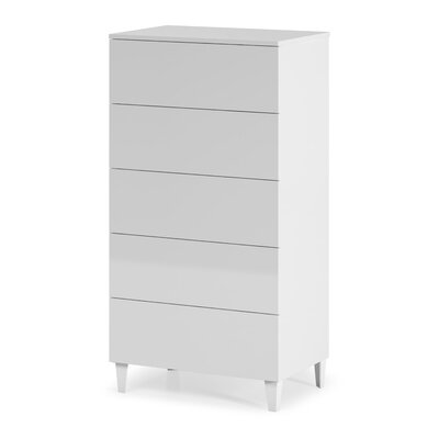 Heartlands Furniture Arctic 5 Drawer Chest of Drawers