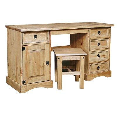 Heartlands Furniture Rustic Corona Double Dressing Table Set