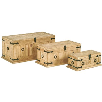 Heartlands Furniture Rustic Corona 3 Piece Monterey Trunk Set