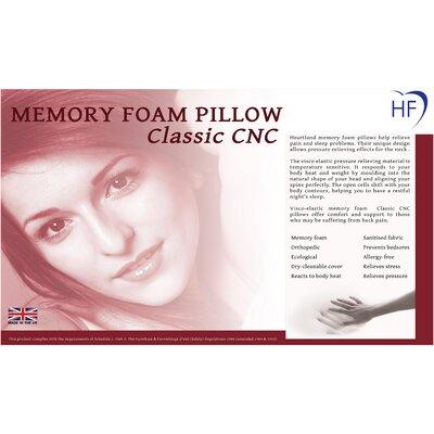 Heartlands Furniture Memory Foam Classic CNC Standard Pillow