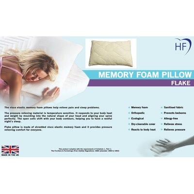 Heartlands Furniture Memory Foam Flake Standard Pillow