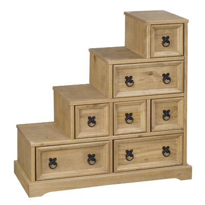 Heartlands Furniture Rustic Corona Multimedia Chest with Library Style Drawers