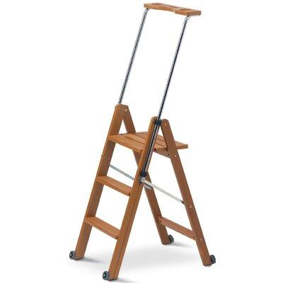 Aigner 1,45 m Rollbare Leiter Tuscania aus Holz