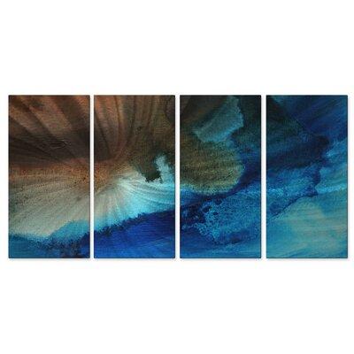 All My Walls 'Sky Drama II' by Megan Duncanson 4 Piece Graphic Art Plaque Set