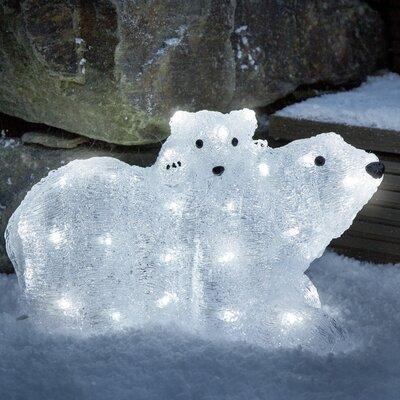 Konstsmide Dekorativer Akzent Eisbären Mutter mit Kind