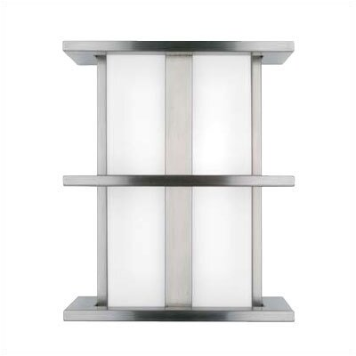 LBL Lighting Modular Tubular 2 Light Small Outdoor Fluorescent Wall Sconce
