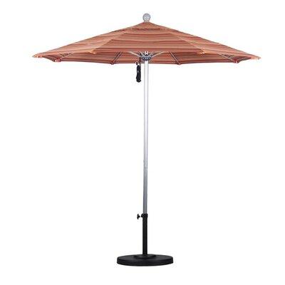 7.5' Market Umbrella Frame Finish: Silver Anodized, Color: Seville Seaside