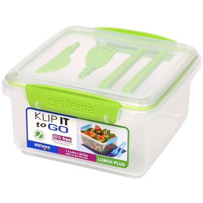 Klip It Lunch Plus To Go Food Storage Container