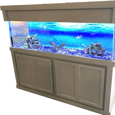 """Mattson Aquarium Stand and Canopy Combo Size: 74"""" H x 76.7"""" W x 26.7"""" D"""