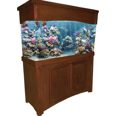 """Calypso Birch Series Aquarium Stand and Canopy Combo Size: 65"""" H x 52.5"""" W x 15.5"""" D, Finish: Cherry"""
